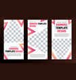 set of vertical web banners with place for photo vector image vector image