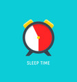 sleep time clock icon countdown future day night vector image vector image