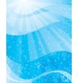 sunlight underwater vector image
