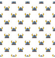 swedish viking helmet pattern seamless vector image vector image