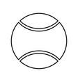 tennis ball black color icon vector image vector image