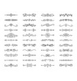 text divider simple black line icons set vector image vector image
