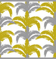 tropical pattern with bushes in three colors gray vector image