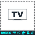 tv icon flat vector image vector image