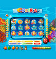 underwater fish game template vector image