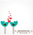 valentine card with cute birds vector image