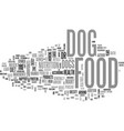 what s in your dog food text word cloud concept vector image vector image