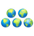 world globe earth map vector image vector image
