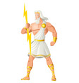 zeus the father of gods and men vector image vector image