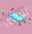 3d isometric flat concept 5g global vector image