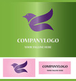 abstract bird logo vector image