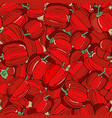 background seamless ripe red paprika with vector image vector image
