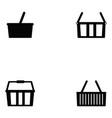 basket icon set vector image vector image