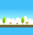beauty landscape game background style vector image vector image