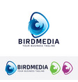 bird media logo design vector image vector image
