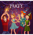 birthday party celebration festive background vector image vector image