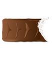 bitten chocolate biscuit bar vector image