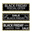 Black friday sale banner design vector image vector image