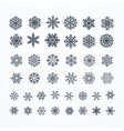 black snowflakes icon on white background vector image vector image