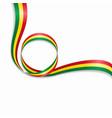 bolivian wavy flag background vector image vector image