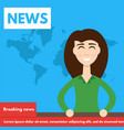 breaking newstv screen layout vector image vector image