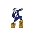 Business Clipart Coin Pack vector image
