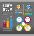 business infographic data proccess plan vector image