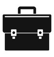 business suitcase icon simple style vector image