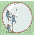 Businessmen prevent the deadline vector image vector image