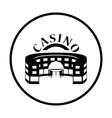 Casino building icon vector image