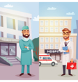 Cheerful Doctors Vertical Banners vector image
