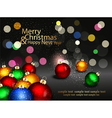 Christmas background with colored balls vector image vector image