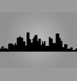 city skyline urban landscape vector image vector image