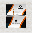 clean professional business card design vector image vector image
