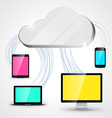Cloud computing concept background tablet vector image