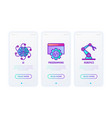 cyber technology thin line icons set ai vector image