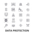 data protection online security hacker safety vector image vector image