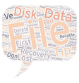 Data Recovery First Aid Tips To Increase Your vector image vector image