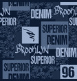 denim typography brooklyn new york artwork vector image vector image