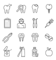 dentist icon vector image