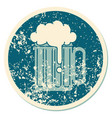 distressed sticker tattoo style icon a beer vector image vector image