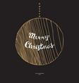 doodle christmas ball vector image