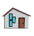 drawing house modern style vector image vector image