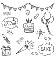 Element party doodle art vector image vector image