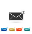 envelope icon received message concept vector image
