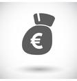 Euro flat icon vector image vector image