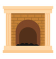 fireplace for fire icon cartoon style vector image vector image