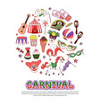 flat carnival circus concept vector image