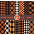 Fourteen Halloween Lumberjack Seamless Pattern vector image vector image