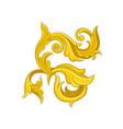 goldern baroque ornament vintage floral pattern vector image vector image
